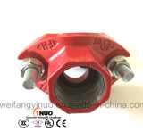 Тройник штуцеров трубы утюга Ce UL фабрики FM Weifang Approved дуктильный механически
