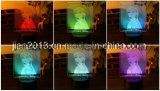يشخّص [3د] ليل يمتلك ضوء مع ك تصميم على لوح أكريليكيّ