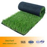 Gramado artificial falsificado da grama (fio) da forma de C, relvado sintético para o Greening da área de negócio