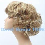Parrucca sintetica dei capelli ondulati