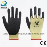 покрынный латекс черноты вкладыша полиэфира 10g увеличивает перчатки безопасности перстов (L002)