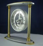Omaggi stabiliti di affari di alta qualità dell'orologio K8059e dell'orologio del kit del regalo di scheletro da tavolino di lusso del ricordo