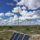 Панели солнечных батарей генератора ветротурбины силы возобновляющей энергии отдаленной области малые гибридные