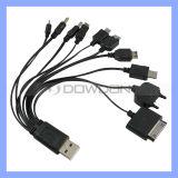 10 in 1 USB-Verbinder-Kopf-multi Funktions-Aufladeeinheits-Kabel für iPhone Samsung
