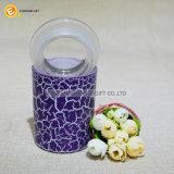 Tarro de cristal del almacenaje del caramelo con la pintura del crujido del color