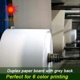 Papier duplex à la pulpe mélangée avec dos gris pour impression