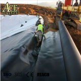 1mm/1,5 mm 5.8m géomembrane HDPE de l'agriculture de la Culture pour l'Étang du Poisson/tank//du canal de décharge/LAC/railway/Tunnel de garniture de chemise