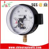 150mm contacto eléctrico do medidor de pressão do manômetro com enchimento de líquido