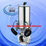 Válvula Borboleta Pneumática sanitárias com Sensor de Posição