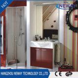 Module de salle de bains fixé au mur de meubles de PVC de qualité