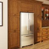 標準的なL形のカシの純木の台所食器棚(OP15-S03)