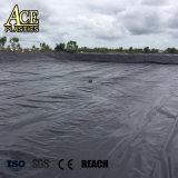 0,8 mm/1mm/1,5 mm/2mm/2,5 mm géomembrane HDPE pour les eaux usées des chemises de lagon