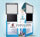 Custom Oemodm Floor Stand Cartón de pantalla con proyector