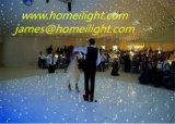 Mezcla de LED de color blanco y negro piso iluminado por las estrellas de la etapa de la boda