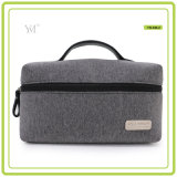 Novo Produto Grey Eco Friendly Makeup Canvas Cosmetic Bag
