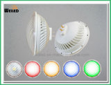 Luz subaquática 12V/85-265V do diodo emissor de luz da luz plástica impermeável 22W IP68 RGB da piscina do diodo emissor de luz do alumínio PAR56