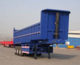 De op zwaar werk berekende Aanhangwagen van de Kipper van de Aanhangwagen van de Stortplaats