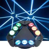Indicatore luminoso capo mobile del fascio del DJ 9*12W RGBW 4in1 LED della barra della fase della discoteca