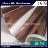 Brown Sliver Color Reflection Building Galss Film, Building Decorative Film