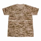 1308-3年の綿の砂漠のデジタルCamoufalge Tシャツ
