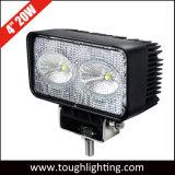 Offroad 빛 4 인치 사각 20W 자동 크리 사람 LED 작동되는 램프