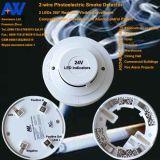 2 ha collegato 24V elettricamente Globale-Usano il rivelatore di fumo convenzionale per il magazzino