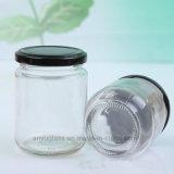 195ml 240mlの円形のピクルスのガラス瓶、蜂蜜、食糧、蜂の蜂蜜のためのガラスビン
