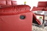 Sofá de couro com os 1+2+3 para o Recliner manual usado HOME da mobília