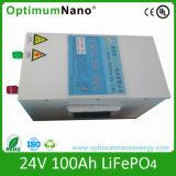 深いサイクル24V 100ah LiFePO4の太陽電池