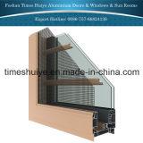 Алюминиевое окно Casement с защитным предохранителем для украшения дома