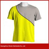 100% camicia di T rotonda del collo degli uomini di modo del cotone, maglietta (R150)