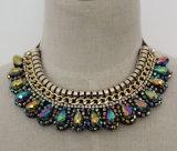De met de hand gemaakte Halsband van de Nauwsluitende halsketting van het Kostuum van de Charme van de Manier van het Kristal van de Parel Ruige (JE0020)