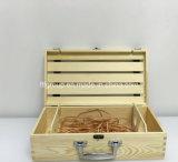 SGS Audited Supplier Boîte à vin en bois antique personnalisée