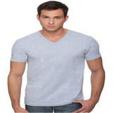 Gekamde Katoenen Korte Koker V van Mens de T-shirt van de Hals