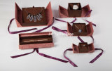 반지, 귀걸이, 팔찌, 목걸이를 위한 호화스러운 선물 보석 수송용 포장 상자
