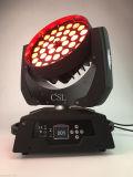 Het bewegen van Hoofd Lichte 4in1 LEIDEN 36X10W RGBW Gezoem