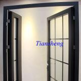 アルミ合金の美しいフレンチドアの内部ドア