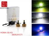 Motociclo della lampadina del faro del LED e faro automatici H1/H3/H7 dell'automobile LED
