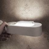 Pequena lâmpada de espelho de parede Talo Parete Fluo de alumínio fundido ou cromado