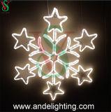 Luzes decorativas do motivo do floco de neve do Natal da fonte da fábrica