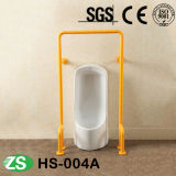 Acier inoxydable de salle de bains de toilette et barres d'encavateur vers le haut-Se pliantes Handicapped en nylon