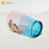 Taza de cristal aislada 16 onzas de la pinta que empaqueta insignia de encargo