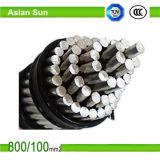 Estándar descubierto de aluminio de arriba del conductor ACSR ASTM para la línea de transmisión