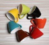 Tazza & piattino di caffè di ceramica variopinta dello smalto della tazza di caffè della tazza di caffè 80ml
