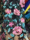 Tessuto del merletto del fiore del ricamo di alta qualità per l'indumento