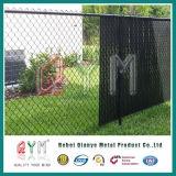 Cerca revestida del ribete del jardín de la cerca de alambre de la conexión de cadena del plástico verde de 5 pies