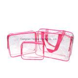 Sacchetto dell'imballaggio del regalo dell'articolo da toeletta di trucco del PVC nel sacchetto dell'estetica di corsa degli insiemi del sacchetto