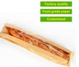 Douane Afgedrukt Stokbrood die de Zakken van het Document van Kraftpapier met Venster verpakken