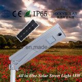 18W Todo-en-uno Integrated solar Calle luz LED con chip de Bridgelux
