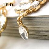 절묘한 수정같은 유리 모조 다이아몬드 긴 결혼식은 하락 귀걸이를 매단다